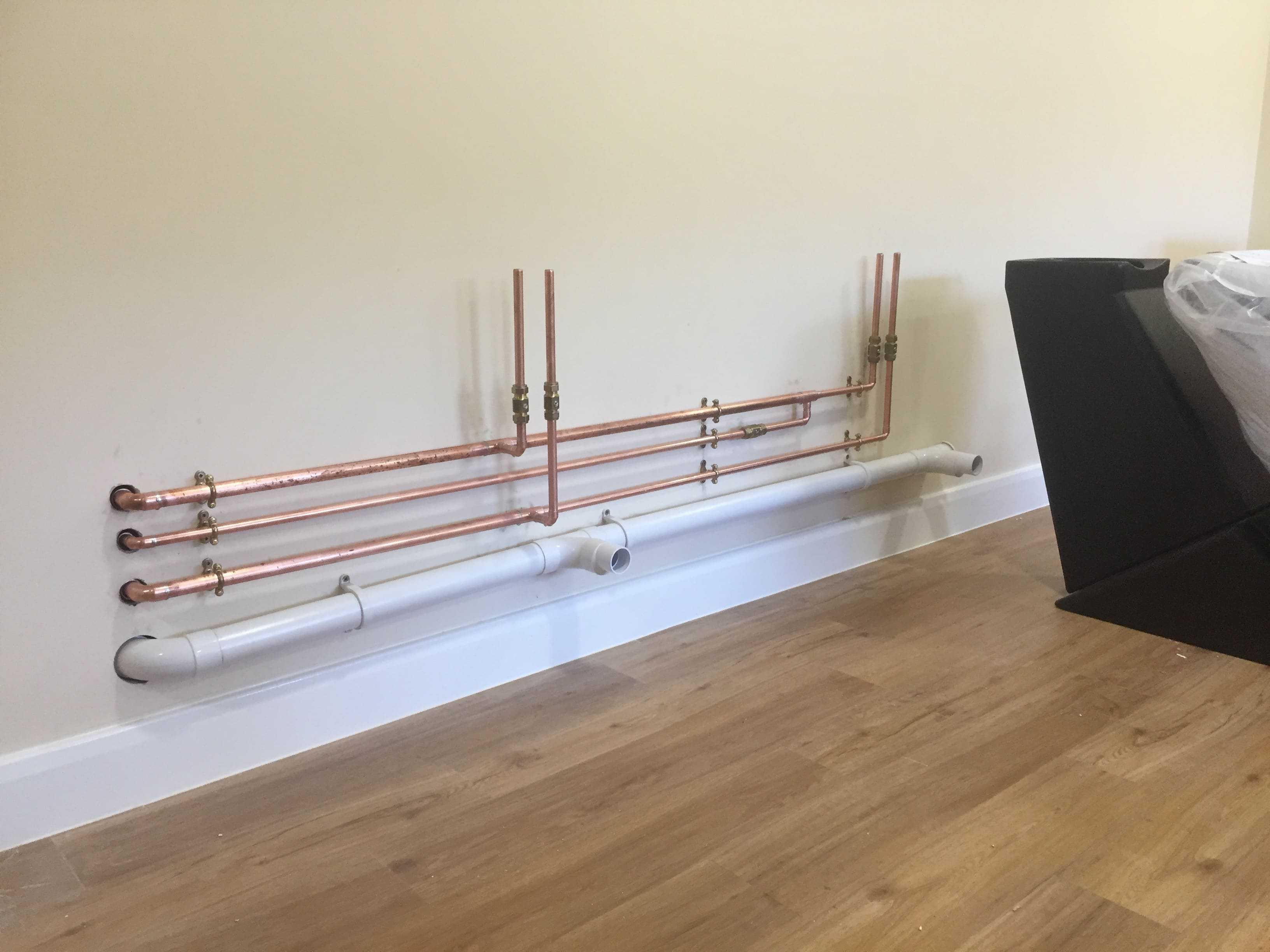 Plant room, heating & domestic services installation.